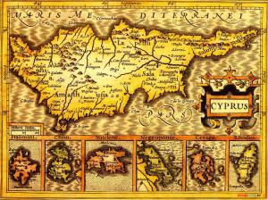 Самая первая карта Кипра