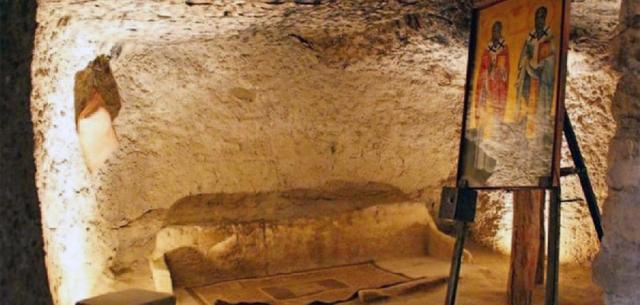 катакомбы храма Святого Ираклидия
