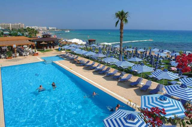 пляж Silver Sands Beach Hotel Протарас