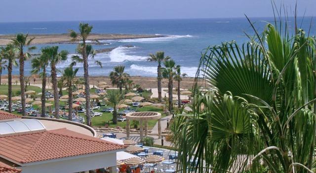 пляж отеля cyprotel cypria maris Пафос