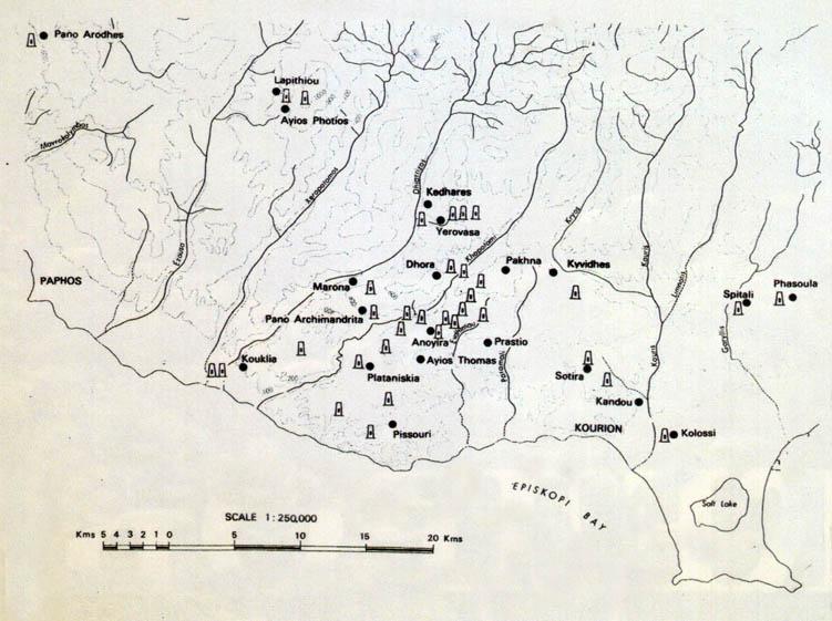 карта мистических камней Кипр