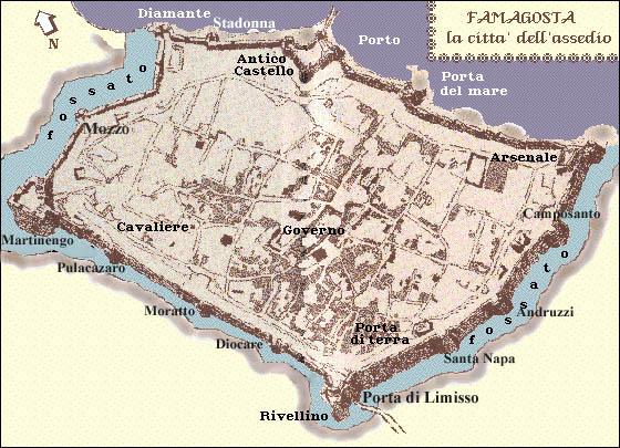 карта крепости Фамагусты