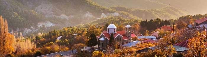 деревни в Троодос Кипр