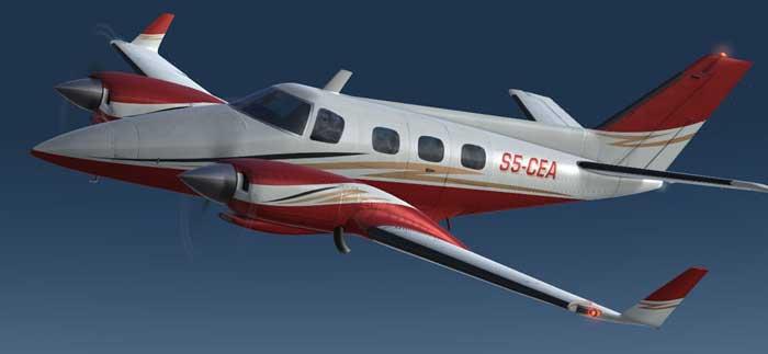 Частный самолет Duke B60