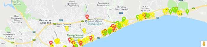 карта бесплатного интернета на Кипр