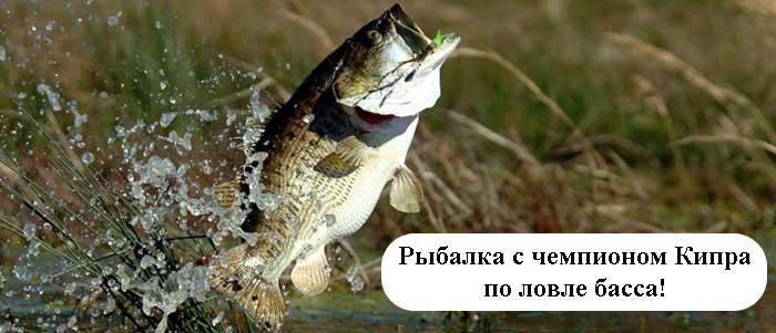 Трофейная рыбалка на басса на Кипре с гидом