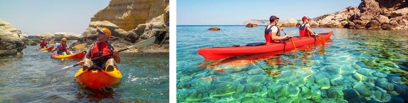 развлечения на Кипре прогулки на каяках