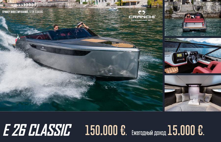 Покупка яхты cranchi e 26 classic Кипр