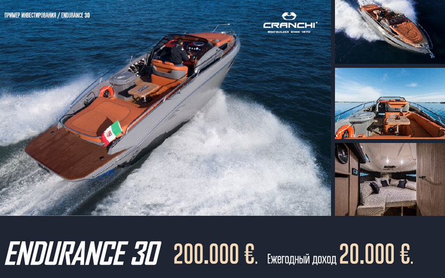 Покупка яхты cranchi Endurance 30 Кипр