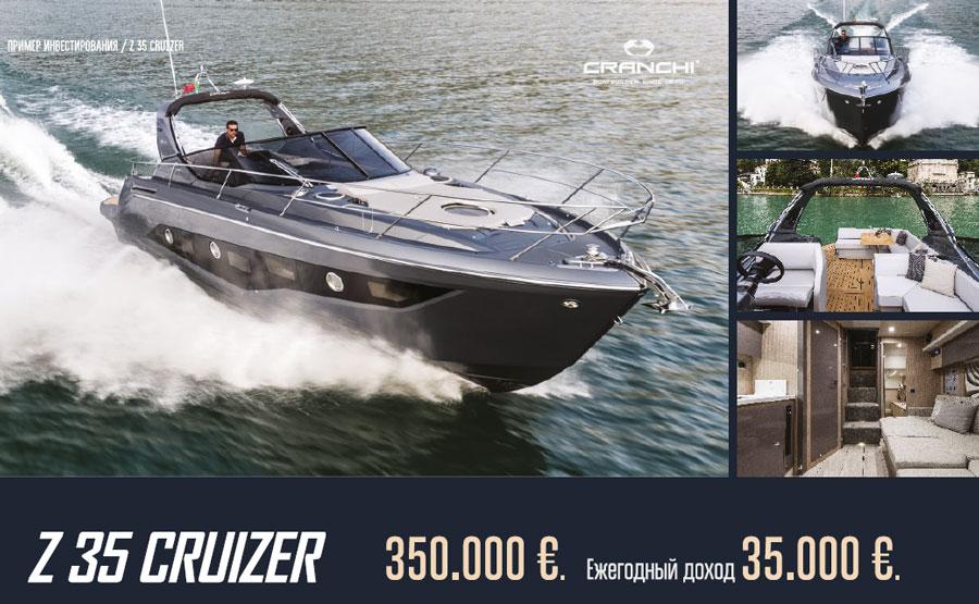 Покупка яхты cranchi z 35 Cruizer Кипр